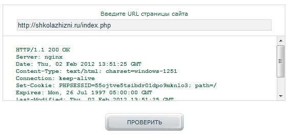 Ответ сервера на дубль главной страницы сайта
