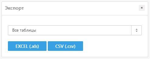 Фото: Экспорт позиций в эксель и csv
